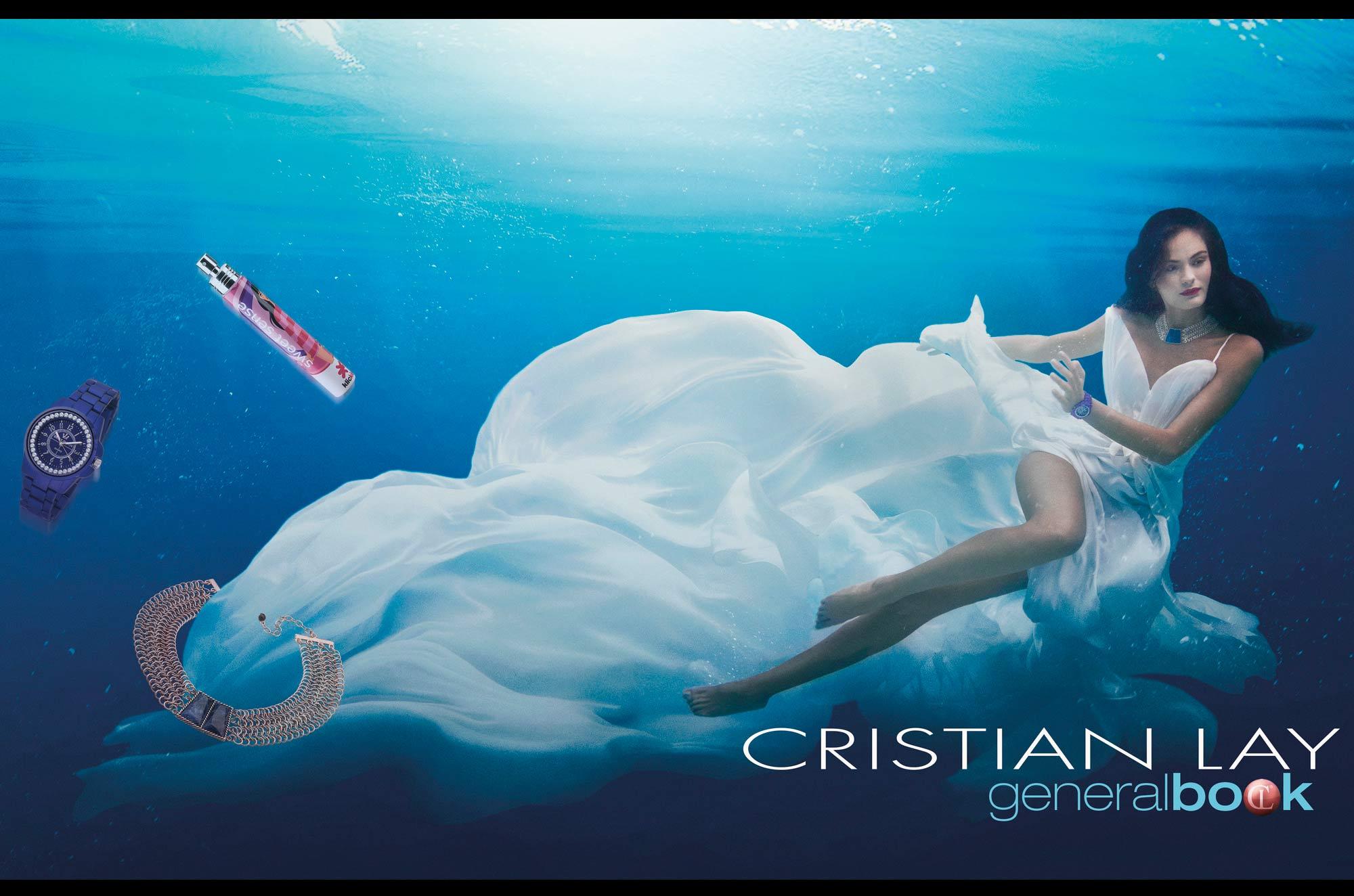 Portada catálogo general Cristian Lay joyería cosmética foto Luis Malibrán